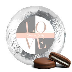 Bridal Shower Love Milk Chocolate Drenched Oreo Cookies Assembled (24 Pack)