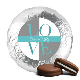 Bridal Shower Love Milk Chocolate Drenched Oreo Cookies Assembled