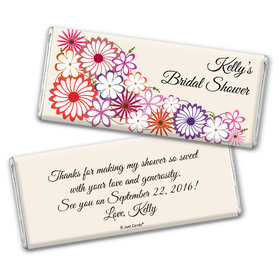 Shower Flowers Bridal Party Favors Personalized Candy Bar - Wrapper Only