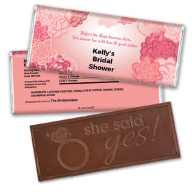 Surrounding Love Bridal Shower Favors Personalized Embossed Bar Assembled
