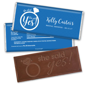 Ring Tone Bridal Shower Favors Personalized Embossed Bar Assembled
