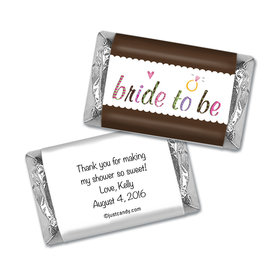 Bride to Be Personalized Miniature Wrappers