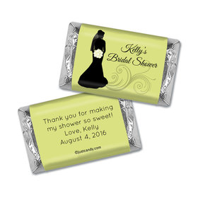 Bride Silhouette Personalized Miniature Wrappers