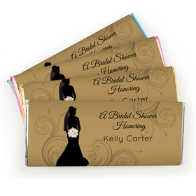 Bridal Shower Favor Personalized Chocolate Bar Bride Silhouette