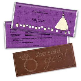 Glamorous Gifts Bridal Shower Favors Personalized Embossed Bar Assembled