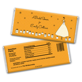 Glamorous Gifts Bridal Shower Favors Personalized Candy Bar - Wrapper Only