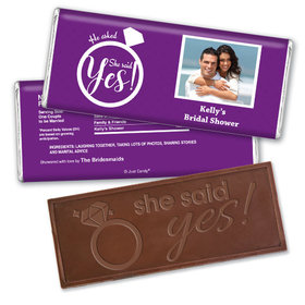 The Rock Bridal Shower Favors Personalized Embossed Bar Assembled