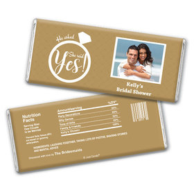 Bridal Shower Favor Personalized Chocolate Bar She Said Yes! Photo
