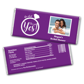 The Rock Bridal Shower Favors Personalized Candy Bar - Wrapper Only