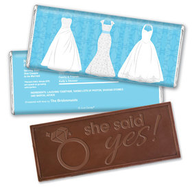 Something Blue Bridal Shower Favors Personalized Embossed Bar Assembled