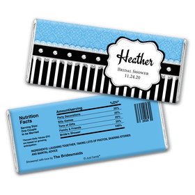 Glamour Bride Bridal Shower Favors Personalized Candy Bar - Wrapper Only