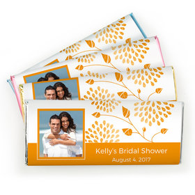 Bridal Shower Favor Personalized Chocolate Bar Leaves with Photo