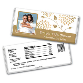 Budding Bride Bridal Shower Favors Personalized Candy Bar - Wrapper Only