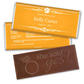 Sweet Shower Party Favors Personalized Embossed Bar Assembled