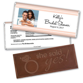 Simple Bridal Shower Party Favors Personalized Embossed Bar Assembled