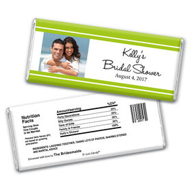 Bridal Shower Favor Personalized Chocolate Bar Classic Border Photo