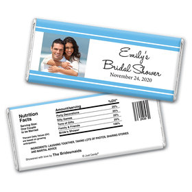Simple Bridal Shower Party Favors Personalized Candy Bar - Wrapper Only