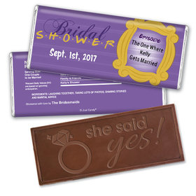The One Where Bridal Shower Favors Personalized Embossed Bar Assembled