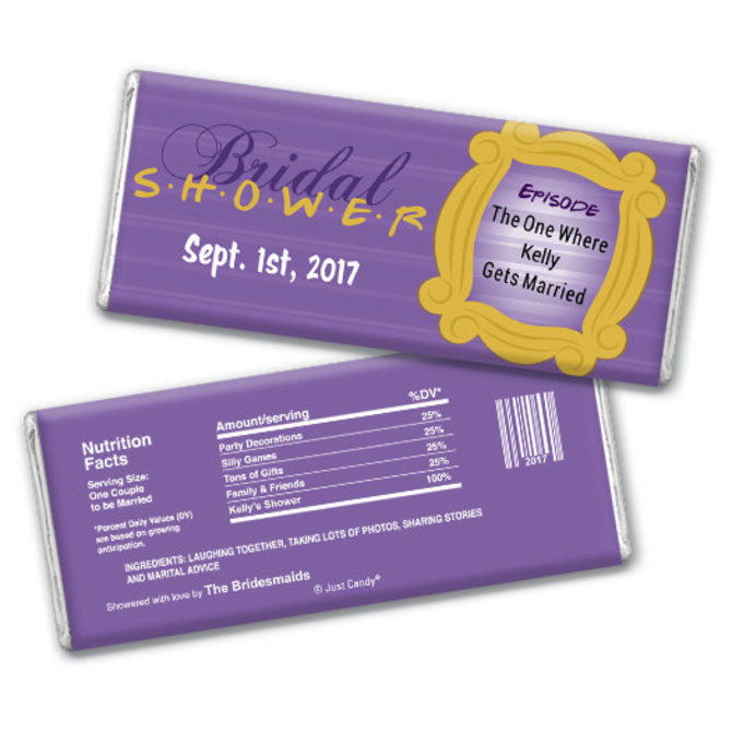 bridal shower favor personalized chocolate bar friends tv show larger view of product larger view of product