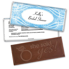 Precious Moments Bridal Shower Favors Personalized Embossed Bar Assembled
