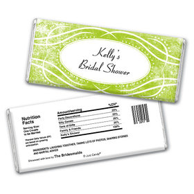 Bridal Shower Favor Personalized Chocolate Bar Winter Snow Squiggle