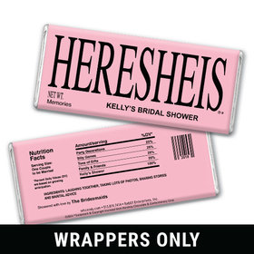 heresheis shower party favors personalized candy bar wrapper only