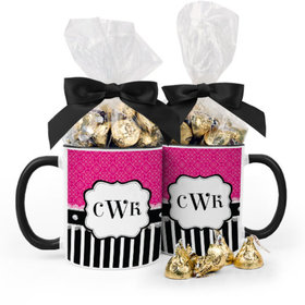 Personalized Bridal Shower Diamonds 11oz Mug with Hershey's Kisses