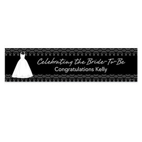 Personalized Bridal Shower Brides Dress Banner