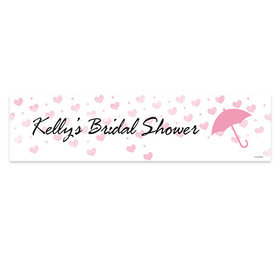 Personalized Bridal Shower Hearts 5 Ft. Banner