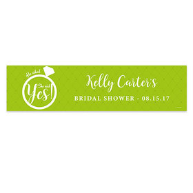 Personalized She Said Yes Bridal Shower Banner