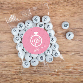 Personalized Bridal Shower Candy Bag with JC Chocolate Minis - She Said Yes