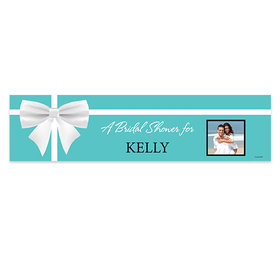 Personalized Bow & Photo Bridal Shower 5 Ft. Banner