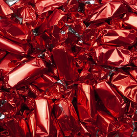Red Foil Wrapped Caramels