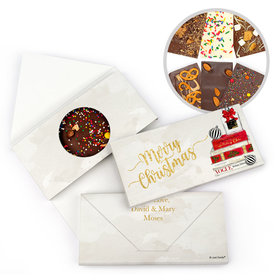 Personalized Holiday Chic Christmas Gourmet Infused Belgian Chocolate Bars (3.5oz)