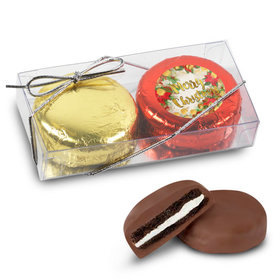 Merry Christmas Holly 2Pk Belgian Chocolate Covered Oreo Cookies