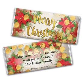 Personalized Chocolate Bar Wrappers Only - Christmas Holly