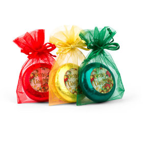 Christmas Holly Chocolate Covered Oreo Cookies in Organza Bags - Set of 6