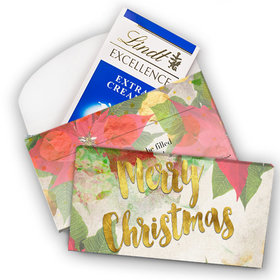 Deluxe Personalized Christmas Holly Lindt Chocolate Bar in Gift Box (3.5oz)