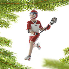 Personalized Lacrosse Boy Running Down Field