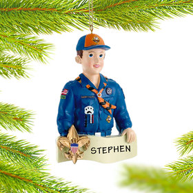 Personalized Cub Scout Badge on Banner
