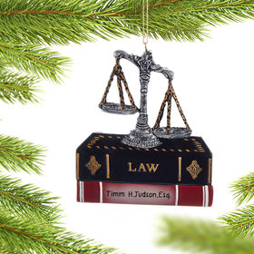 Personalized Lawyer Justice Scales and Books