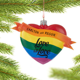 Personalized Love is Love Rainbow Heart