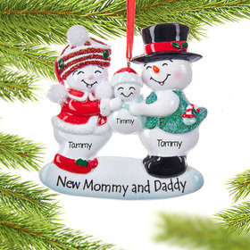 Personalized New Mommy and Daddy Family