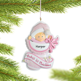Personalized Baby Girl's 1st Christmas