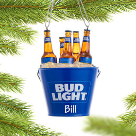 Personalized Bud Light Beer Bottles in Bucket