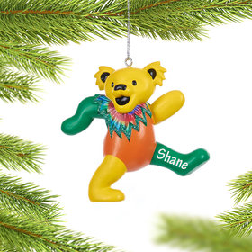 Personalized Grateful Dead Dancing Bear (Yellow, Green and Orange)