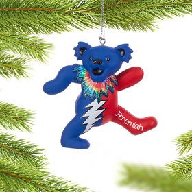 Personalized Grateful Dead Dancing Bear (Blue and Red)