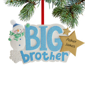 Personalized Big Brother Snowman