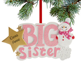 Personalized Big Sister Snowman