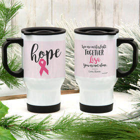 Personalized Breast Cancer Hope Stainless Steel Travel Mug (14oz)
